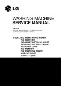 Service Manual LG WD-1485RD