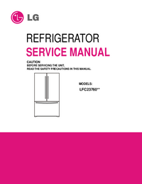 Руководство по техническому обслуживанию LG LFC23760**