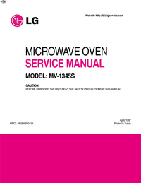 Service Manual LG MV-1345S