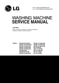 Manual de servicio LG WM-1371(6)FHB