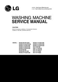 Руководство по техническому обслуживанию LG WD-1271FB(B)