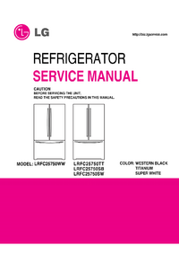 Service Manual LG LRFC25750WW