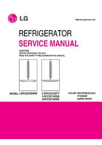 Instrukcja serwisowa LG LRFC25750WW