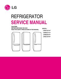 Руководство по техническому обслуживанию LG LRDC22734**