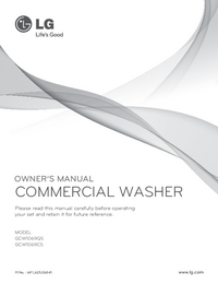 User Manual LG GCW1069QS