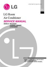 Manual de serviço LG LWHD2500ER