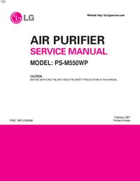 Servicehandboek LG PS-M550WP