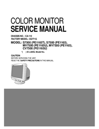 Service Manual LG MV7500