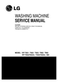 Manual de serviço LG WF-T652A