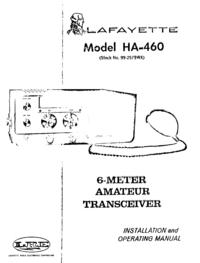 Serwis i User Manual Lafayette HA-460