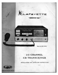 Service and User Manual Lafayette Comstat 25A