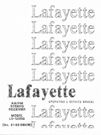 Serwis i User Manual Lafayette LR-120DB