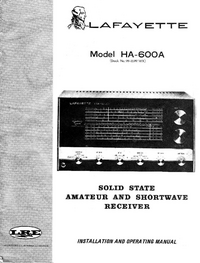 Service and User Manual Lafayette HA-600A