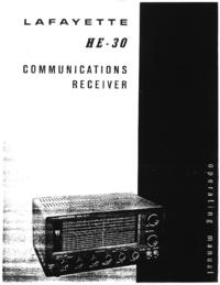 Servizio e manuale utente Lafayette HE-30