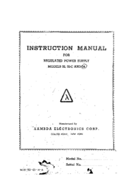 Serwis i User Manual Lambda 34