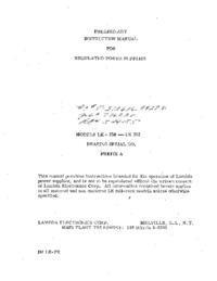 Manuale d'uso Lambda LK 352