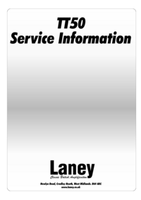 Manual de servicio Laney TT50