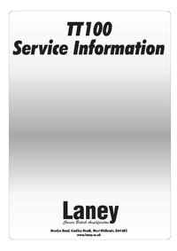Service Manual Laney TT100