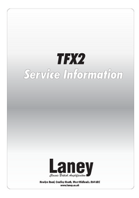 Manual de servicio Laney TFX2