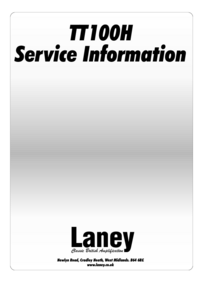 Manual de servicio Laney TT100H