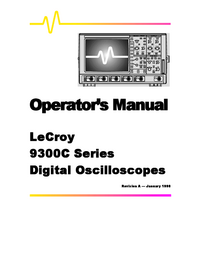 User Manual LeCroy 9374C Series