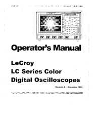 User Manual LeCroy LC534