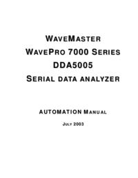 User Manual LeCroy WavePro 7000 Series