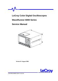 Service Manual LeCroy WaveRunner 6050