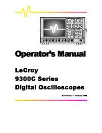 Instrukcja obsługi LeCroy 9300C