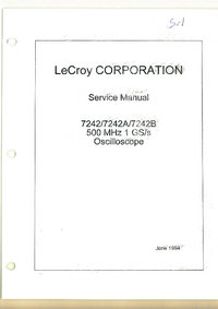 Servicehandboek LeCroy 7242A