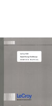 manuel de réparation LeCroy 9320