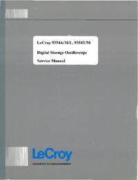 Руководство по техническому обслуживанию LeCroy 9345M