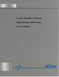 Manual de servicio LeCroy 9374TM