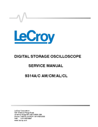 Service Manual LeCroy 9314CL