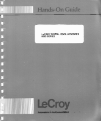 Manuale d'uso LeCroy 9300 series