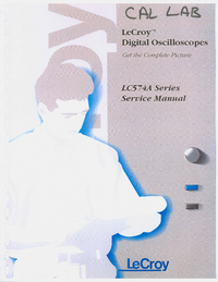 Manual de servicio LeCroy LC574AM