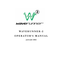 User Manual LeCroy Waverunner-2
