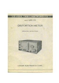 User Manual Leader LDM-170