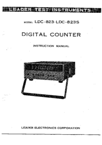 User Manual with schematics Leader LDC-823