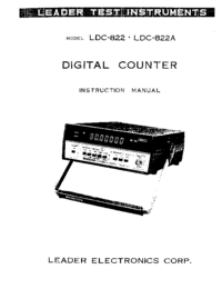 User Manual with schematics Leader LDC-822A