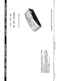 Manual del usuario Leader LDM-815