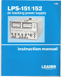 Servicio y Manual del usuario Leader LPS-152