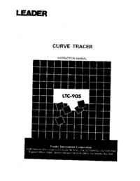 User Manual with schematics Leader LTC-905