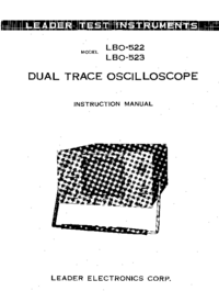 User Manual with schematics Leader LBO-522