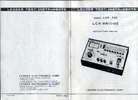 Manuel de l'utilisateur et Schéma cirquit Leader LCR-740
