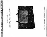 Manual do Usuário, Cirquit Diagrama Leader LSG-11