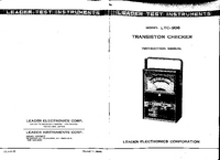 User Manual with schematics Leader LTC-906