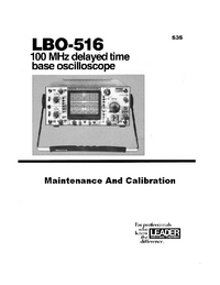 Instrukcja serwisowa Leader LBO-516