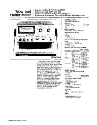 Datasheet Leader LFM-3610