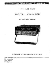 Servizio e manuale utente Leader LDC-823A